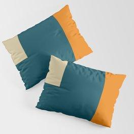 Abstract geometric in orange Pillow Sham