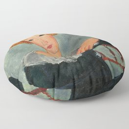 Amedeo Modigliani - Woman with Red Hair Floor Pillow