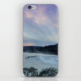 A CHILLY WINTER WILLAMETTE FALLS SUNSET iPhone Skin
