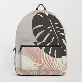 Minimal Monstera Palm Finesse #3 #tropical #decor #art #society6 Backpack