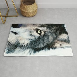 Wolf Art - Timber by Sharon Cummings Rug