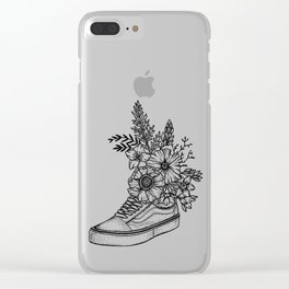 Floral shoe by Din Don Clear iPhone Case