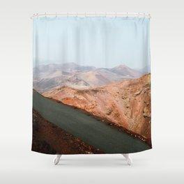 Timanfaya National Park, Spain. Shower Curtain