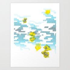 Graphic Roses Art Print