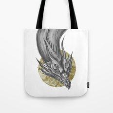 Silver Dragon Tote Bag