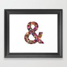 & ampersand print Framed Art Print