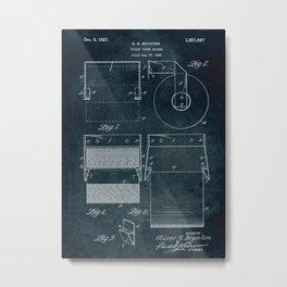 1926 - Toilet paper holder patent art Metal Print