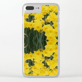 SPRING YELLOW DAFFODILS GARDEN DESIGN Clear iPhone Case