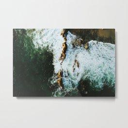 OCEAN - SEA - WATER - ROCKS - PHOTOGRAPHY Metal Print