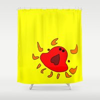 crab Shower Curtains featuring Crab by Happy Fish Gallery
