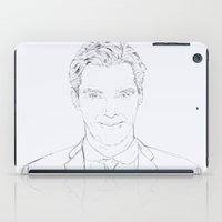 benedict cumberbatch iPad Cases featuring Benedict Cumberbatch by Tatiana D.