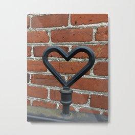 found heart Metal Print