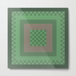 Green All Over Metal Print
