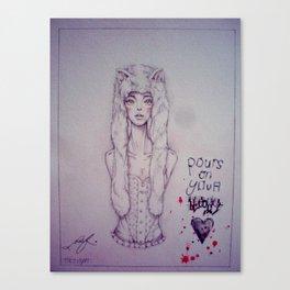 Blood. Canvas Print