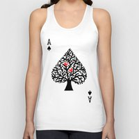 ace Tank Tops featuring Ace of spade by Picomodi