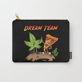 Grass And Pizza - Dream Team Funny Stoner Shirt Carry-All Pouch