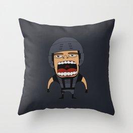 Screaming Johnny Rico Throw Pillow