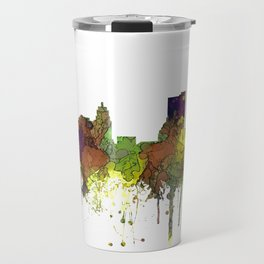 Fort Wayne, Indiana Skyline SG - Safari Buff Travel Mug