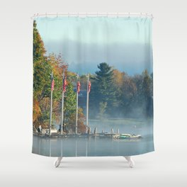 Morning Glory in the Adirondacks Shower Curtain