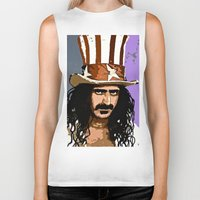 woodstock Biker Tanks featuring Zappa by Saundra Myles