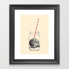 Moon cocktail Framed Art Print