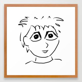 Face 2 Framed Art Print