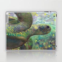 "Giant Sea Turtle Under Water Ocean Aquatic ""The Color Of Magic"" Laptop & iPad Skin"