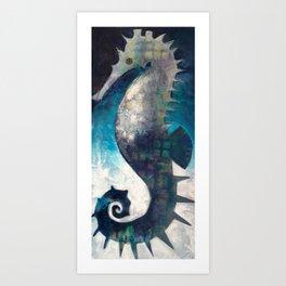 Love like a Seahorse Art Print