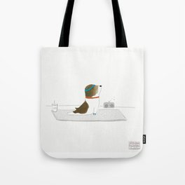 """Upward Dog"" Tote Bag"