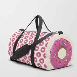 Who Wants a Donut - Pink & Tan Duffle Bag