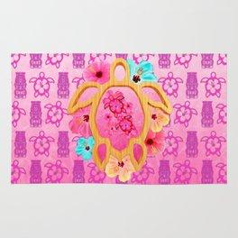 Hawaiian Pink Honu Rug