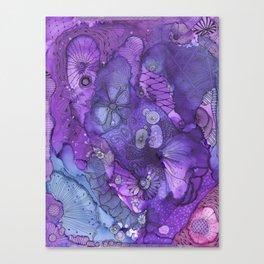 Purple Flow Canvas Print