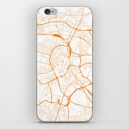 Street MAP Krakow // Orange iPhone Skin