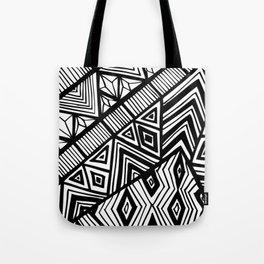 Original Geometric ink-pen print Tote Bag