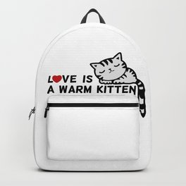 Love is a Warm Kitten Backpack