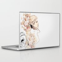 labyrinth Laptop & iPad Skins featuring Labyrinth by waterandinkprints