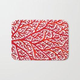 Red Fan Coral Bath Mat
