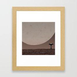 Retro Futuristic Martian Planet Framed Art Print