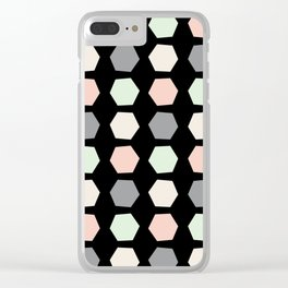 Wonky Pastel Honeycomb Clear iPhone Case