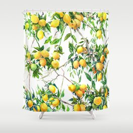 Lemons on the Tree Shower Curtain