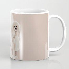Elegant White Poodle Pastel Collage Coffee Mug