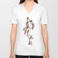 ironman V-neck T-shirts featuring Ironman by DmDan