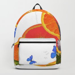 SURREAL GREEN FROGS BUTTERFLIES FRUIT & TURTLE Backpack