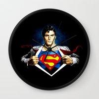 superman Wall Clocks featuring Superman by DavinciArt