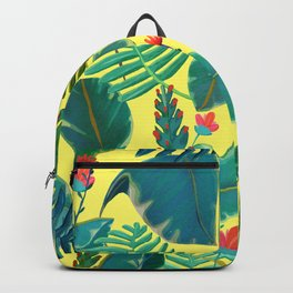 Tropical Nature on Yellow Backpack