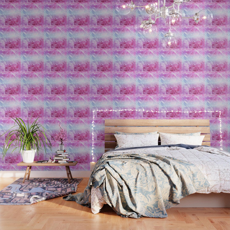 Enigmatic Pink Purple Blue Marble 1 Decor Art Society6 Wallpaper By Anitabellajantz Society6