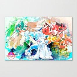 Alola Starters Canvas Print
