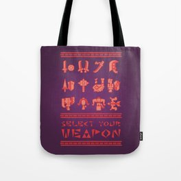 Monster Hunter: Select Your Weapon Tote Bag