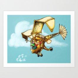 Flying Machine Art Print