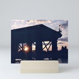 Greenwich Sunset (2) Mini Art Print